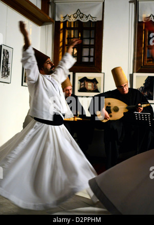 Whirling Dervishes in Turkey. - Stock Photo
