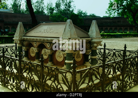 Tomb of John Russell Colvin in a fort, Agra Fort, Agra, Uttar Pradesh, India - Stock Photo