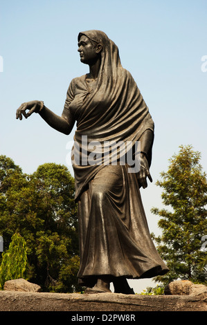 Statue depicting historic Dandi March, Gyarah Murti (11 Statues), Sardar Patel Marg, New Delhi, India - Stock Photo