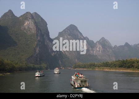 Li River, Guilin, Guangxi, China, Asia - Stock Photo