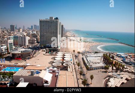 Herod Hotel, Gordon Beach, Hayarkon Street, Tel Aviv, Israel, Middle East - Stock Photo