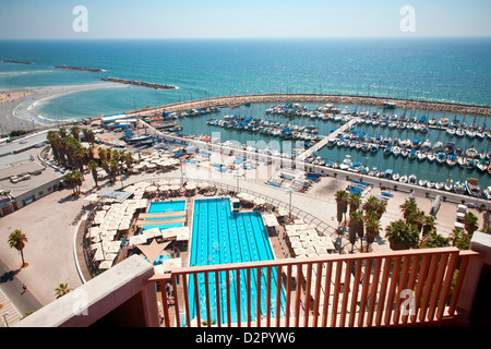 Tel Aviv Marina, Tel Aviv, Israel, Middle East - Stock Photo