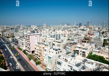 Hayarkon Street, Tel Aviv City Centre, Tel Aviv, Israel, Middle East - Stock Photo