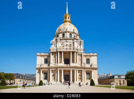 Eglise du Dome, Les Invalides, Paris, France, Europe - Stock Photo