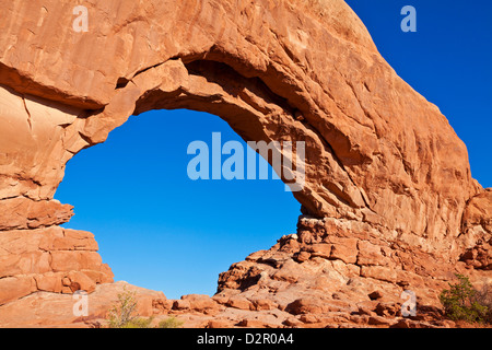 North Window Arch, Arches National Park, near Moab, Utah, United States of America, North America - Stock Photo