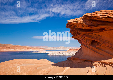 Red Rock formations, Lake Powell, Page, Arizona, United States of America, North America - Stock Photo