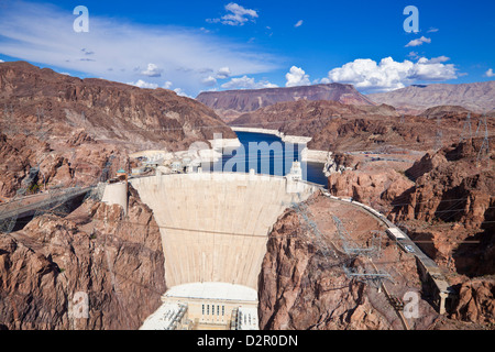 Hoover Dam, Lake Mead Reservoir, Boulder City, Nevada, United States of America, North America - Stock Photo