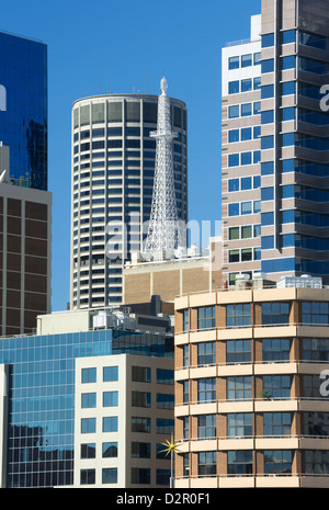 Sydney skyline, Darling Harbour, Sydney, New South Wales, Australia, Pacific - Stock Photo