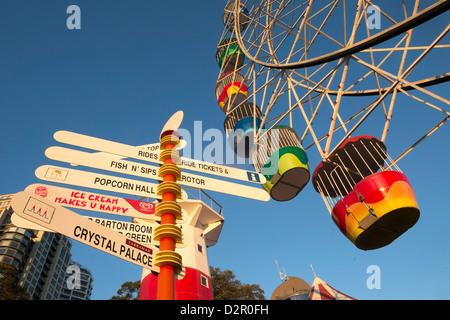 Luna Park, Sydney, New South Wales, Australia, Pacific - Stock Photo