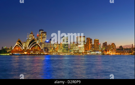 Opera House and Sydney skyline, Sydney, New South Wales, Australia, Pacific - Stock Photo