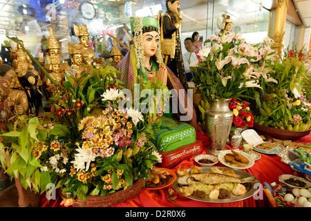 Nats altar during Festival of Ko Myo Shin, Pyin U Lwin (Maymyo), Mandalay Division, Myanmar - Stock Photo
