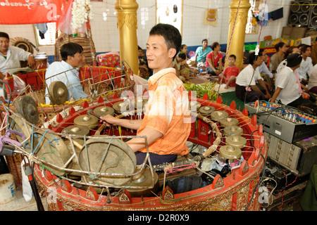 The hsaing waing, a traditional Burmese folk musical ensemble, Festival of Ko Myo Shin, Pyin U Lwin, Mandalay Division, - Stock Photo