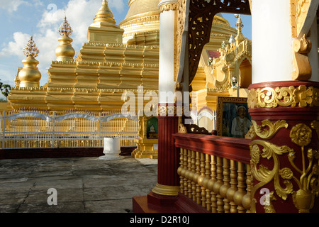The Kuthodaw Pagoda, Mandalay city, Mandalay Division, Republic of the Union of Myanmar (Burma), Asia - Stock Photo