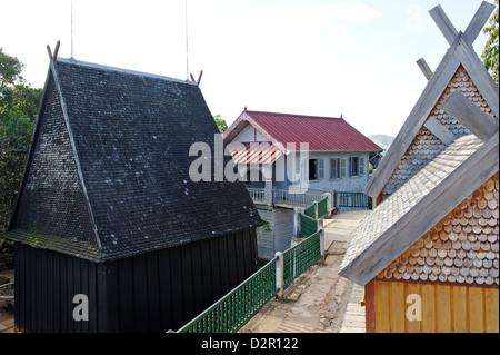 Residences and burial sites of members of the royalty of Imerina, Royal Hill of Ambohimanga, Antananarivo Province, - Stock Photo