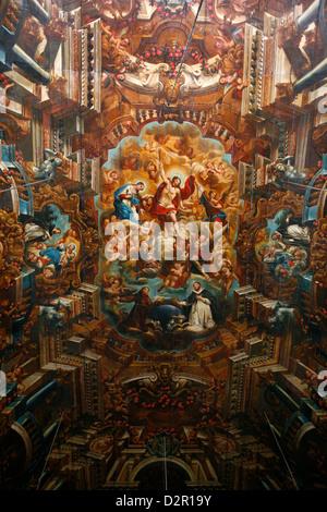 Ceiling of Igreja Sao Domingos on Terreiro de Jesus Square, Salvador (Salvador de Bahia), Bahia, Brazil, South America - Stock Photo