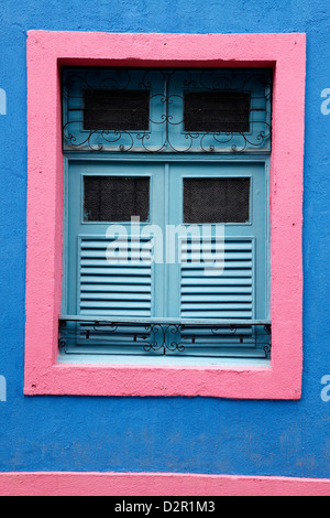 Detail of an old colonial house, Olinda, Pernambuco, Brazil, South America - Stock Photo