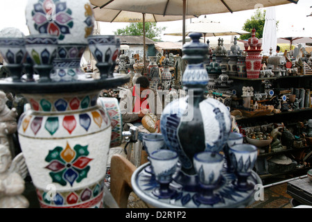 Craft market near Sao Francisco de Assis church, Ouro Preto, Minas Gerais, Brazil, South America Stock Photo