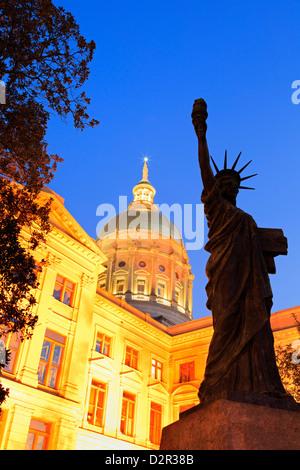 Georgia State Capitol, Atlanta, Georgia, United States of America, North America - Stock Photo