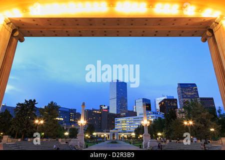 Civic Center Park and skyline, Denver, Colorado, United States of America, North America - Stock Photo