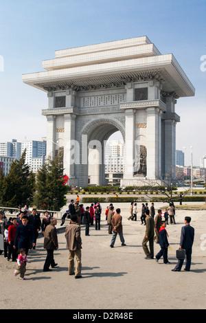 Arch of Triumph, 3m higher than the Arc de Triomphe in Paris, Pyongyang, North Korea