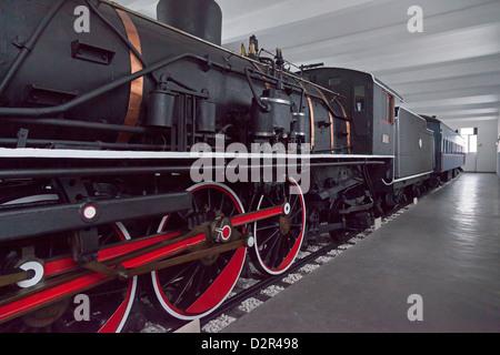 Stalin's train, a gift to Kim Il Sung, Wonsan City, East Sea of Korea, North Korea - Stock Photo