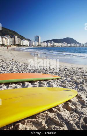 Copacabana beach, Rio de Janeiro, Brazil, South America - Stock Photo