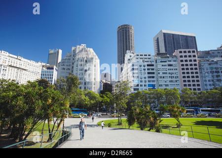 Skyline of Centro, Rio de Janeiro, Brazil, South America - Stock Photo