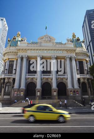 Theatro Municipal (Municipal Theatre) in Praca Floriano (Floriano Square), Centro, Rio de Janeiro, Brazil, South - Stock Photo