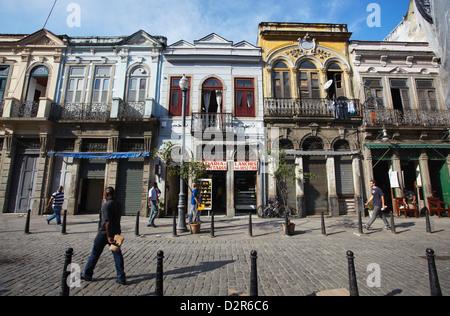 Colonial architecture, Fatima, Rio de Janeiro, Brazil, South America - Stock Photo