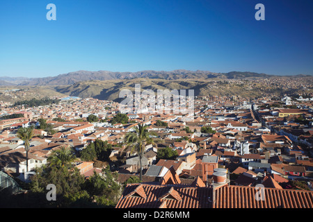 View of Sucre, UNESCO World Heritage Site, Bolivia, South America - Stock Photo