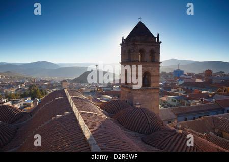View of Potosi from rooftop of Convento de San Francisco, Potosi, UNESCO World Heritage Site, Bolivia, South America - Stock Photo