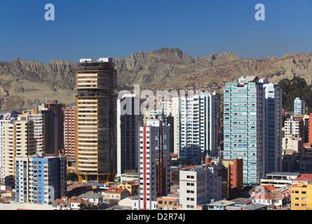 View of downtown La Paz, Bolivia, South America - Stock Photo