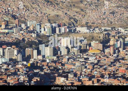 View of La Paz, Bolivia, South America - Stock Photo