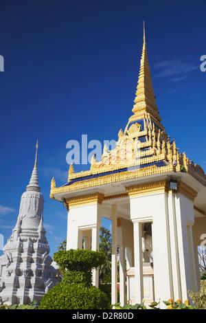 Stupa at Silver Pagoda in Royal Palace, Phnom Penh, Cambodia, Indochina, Southeast Asia, Asia - Stock Photo