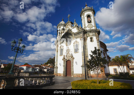 Sao Francisco de Assis (St. Francis of Assisi) Church, Sao Joao del Rei, Minas Gerais, Brazil, South America Stock Photo