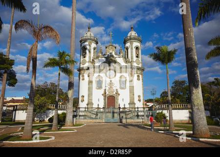 Sao Francisco de Assis (St. Francis of Assisi) Church, Sao Joao del Rei, Minas Gerais, Brazil, South America Stock Photo