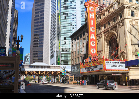 Chicago Theater, State Street, Chicago, Illinois, United States of America, North America - Stock Photo
