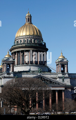 St. Isaac's Cathedral, St. Petersburg, Russia, Europe - Stock Photo