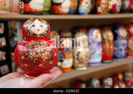 Matryoshka (babushka) dolls, St. Petersburg, Russia, Europe - Stock Photo
