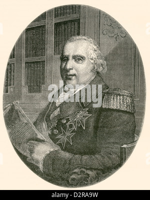 Louis XVIII, 1755 – 1824, aka 'the Desired'. Bourbon King of France and of Navarre. - Stock Photo