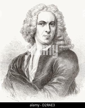 Carl Linnaeus, 1707 –1778, aka Carl von Linné. Swedish botanist, physician and zoologist. - Stock Photo
