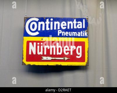 Germany Nuremberg Industry Museum nostalgic Continental sign - Stock Photo