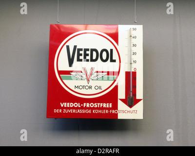 Germany Nuremberg Industry Museum nostalgic Veedol Frost Free motor oil - Stock Photo