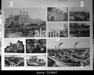 Germany Nuremberg Industry Museum nostalgic Bevery factory - Stock Photo