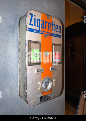 Germany Nuremberg Industry Museum nostalgic Cigaretti Automate - Stock Photo