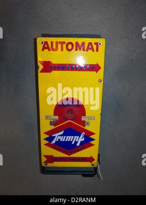 Germany Nuremberg Industry Museum nostalgic Chocolate Automate - Stock Photo