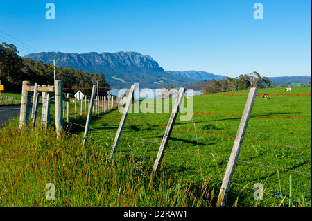 Mountains near Sheffield, Tasmania, Australia, Pacific - Stock Photo