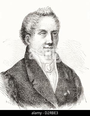 August Wilhelm Schlegel, aka von Schlegel, 1767 - 1845. German poet, translator, critic. - Stock Photo