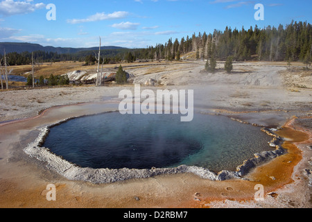 Crested Pool, Upper Geyser Basin, Yellowstone National Park, Wyoming, USA - Stock Photo