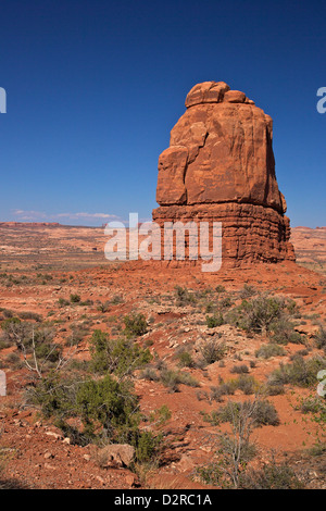 Rock formation, Courthouse Towers area, Arches National Park, Utah, United States of America, North America - Stock Photo